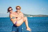 Happy Summer Couple — Stock Photo
