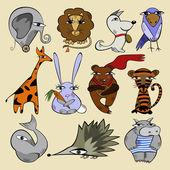 Illustration of animals — Stock Vector