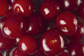 Fresh cherry. Background. Group of Cherries forming a texture — Photo
