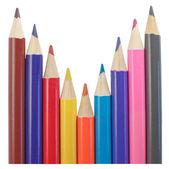 Zářivě barevné tužky — Stock fotografie