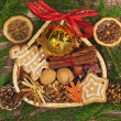 Stock Photo: Christmas frame with basket