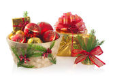 Christmas basket — Stockfoto