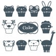 Royalty-Free Stock Vector Image: Set from ten fruitcakes