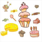 Confectioner's shop — Stock Vector