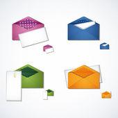 Set of vector vintage envelope. — Stock Vector