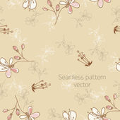 Seamless pattern with florets — Stock Vector