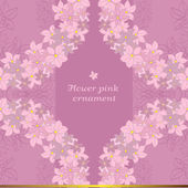 Flower vector pink ornament — Vector de stock