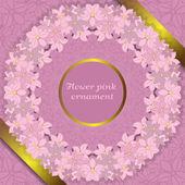 Kwiat różowy ornament — Wektor stockowy