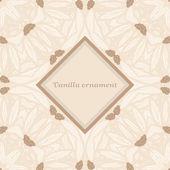 Wanilia ornament — Wektor stockowy