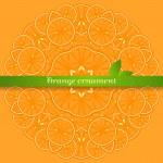 Circular vector orange ornament — Stock Vector