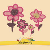 My vector family: florets — Stock Vector