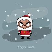 Angry vector santa — Stock Vector