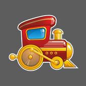 Cartoon vektor tåg — Stockvektor