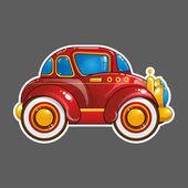 мультипликационный автомобиль — Cтоковый вектор