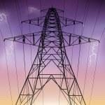 Pilón de electricidad — Vector de stock
