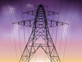 электричество пилон — Cтоковый вектор