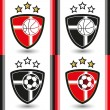 Royalty-Free Stock Vector Image: Football - Soccer Emblems