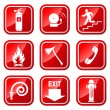 Fire Warning Signs. — Stock Vector #23935985