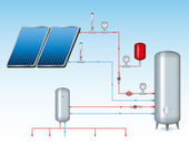 Solar Energy Sheme — Stock Vector