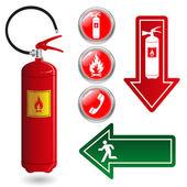 Fire Symbols — Stock Vector