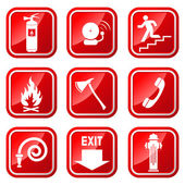 Fire Warning Signs. — Stock Vector