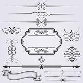 Elementos caligráficos — Vector de stock