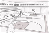 Basketball Court — Stock Vector