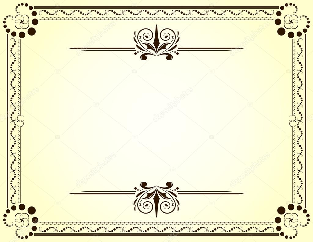 Certificate Borders Templates