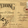 Wedding Invitation — Stockvectorbeeld