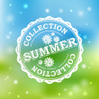Summer Collection Stamp - Image vectorielle