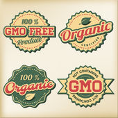 Organic and GMO free Labels — Stock Vector
