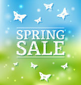 Spring Sale Poster — Vector de stock