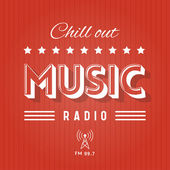 Chill Out Music Radio — Stock Vector