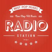 Radio Poster — Stock Vector