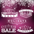 Holidays Sale — Vector de stock