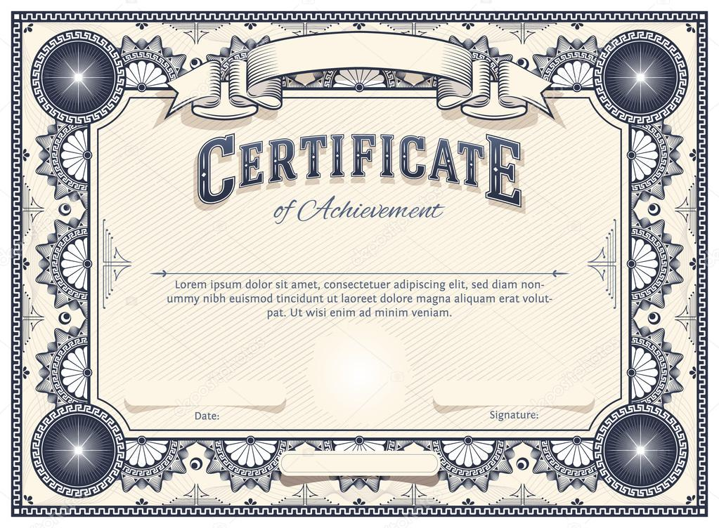 Certificate or Diploma Template — Stock Vector © andrejco #32383781