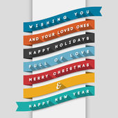 Holidays Greeting Card — Stock Vector