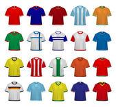 Soccer - Football Jerseys — Stock Vector