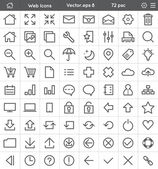 Web Interface Icons — Stock Vector