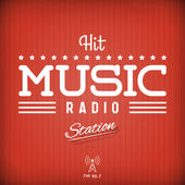 Hit Music Radio — Stock Vector