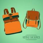 Vintage rucksack — Stock Vector #36046123