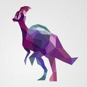Origami dinozor. vektör çizim. — Stok Vektör