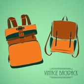 Vintage rucksack — Stock Vector