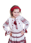 Pretty smile child with ukrainian costume — Stock Photo