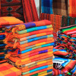 Colorful fabric for sale at a Mexican craft market — Foto Stock