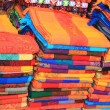 Stock Photo: Woven fabric at Mexiccraft market