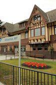 Historic Amtrak train station at Whitefish, Montana — Stock Photo