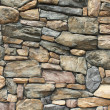 Stock Photo: Neatly fitted stone wall in Whitefish, Montana