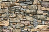 Neatly fitted stone wall in Whitefish, Montana — Stock Photo