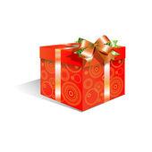 Kırmızı kutu — Stok Vektör